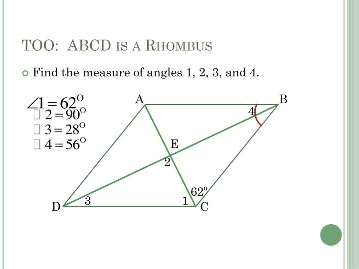 TOO:  ABCD is a Rhombus