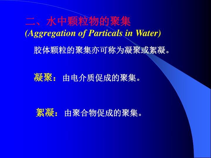 二、水中颗粒物的聚集