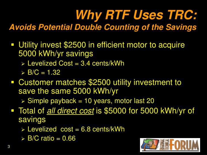 Why RTF Uses TRC: