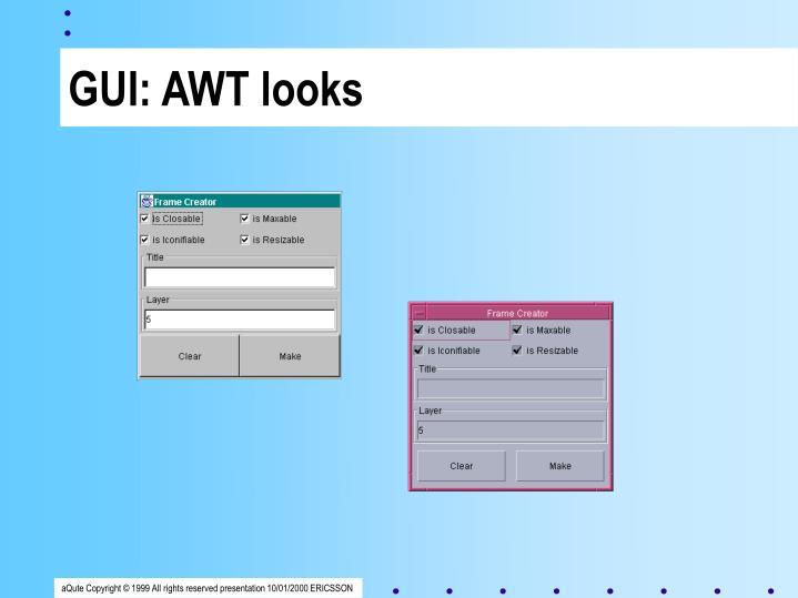 GUI: AWT looks