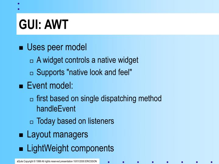 GUI: AWT