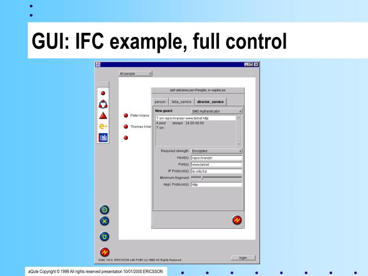 GUI: IFC example, full control