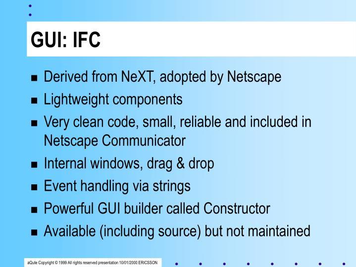 GUI: IFC