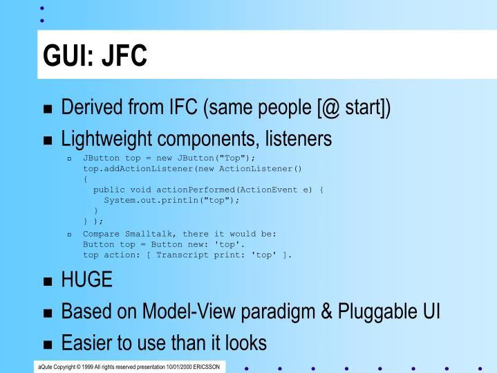 GUI: JFC