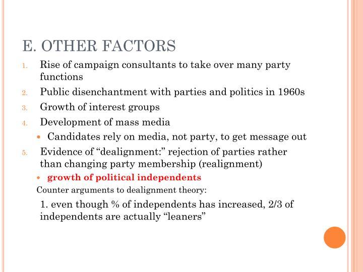 E. OTHER FACTORS