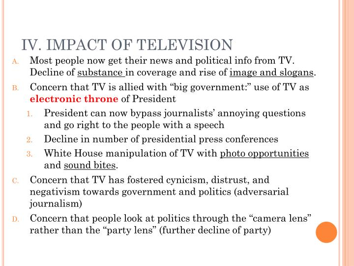 IV. IMPACT OF TELEVISION