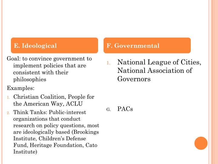 E. Ideological