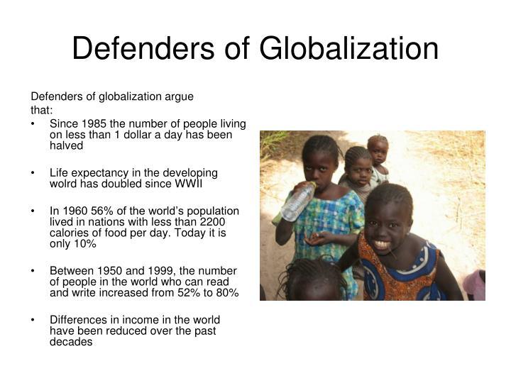 Defenders of Globalization