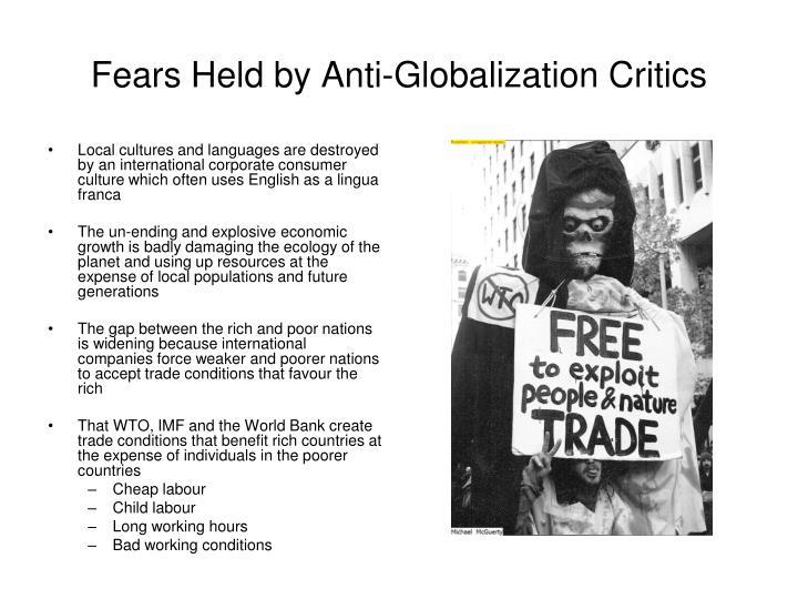 Fears Held by Anti-Globalization Critics