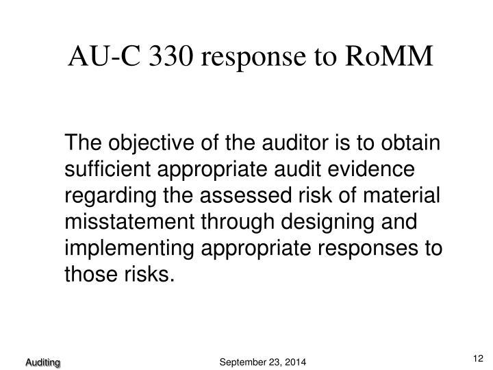 AU-C 330 response to RoMM