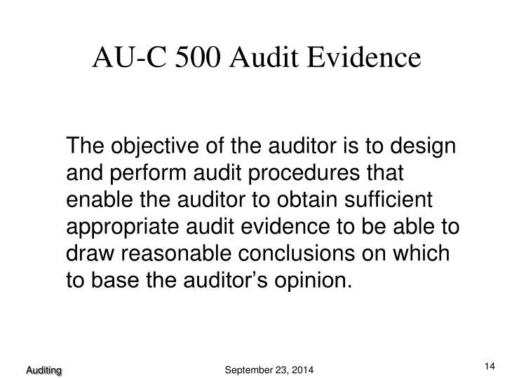 AU-C 500 Audit Evidence