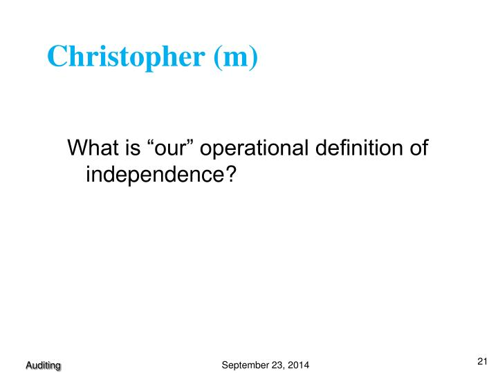 Christopher (m)