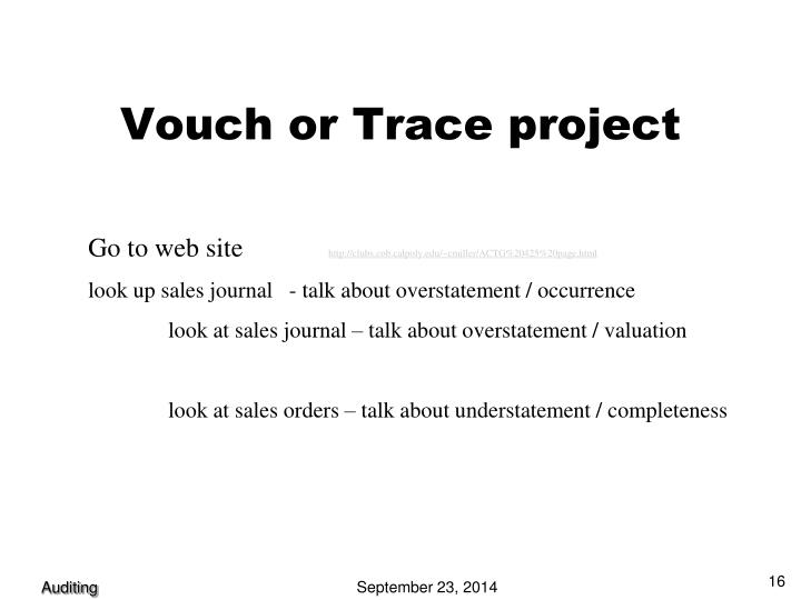 Vouch or Trace project
