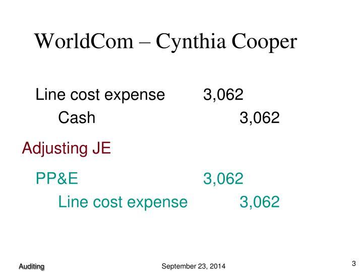 WorldCom – Cynthia Cooper