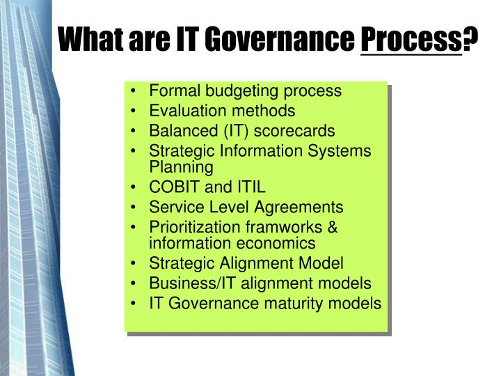 What are IT Governance