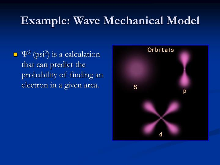 Example: Wave Mechanical Model