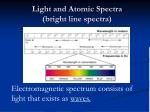 light and atomic spectra bright line spectra