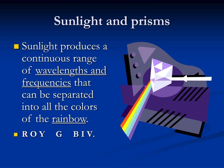 Sunlight and prisms