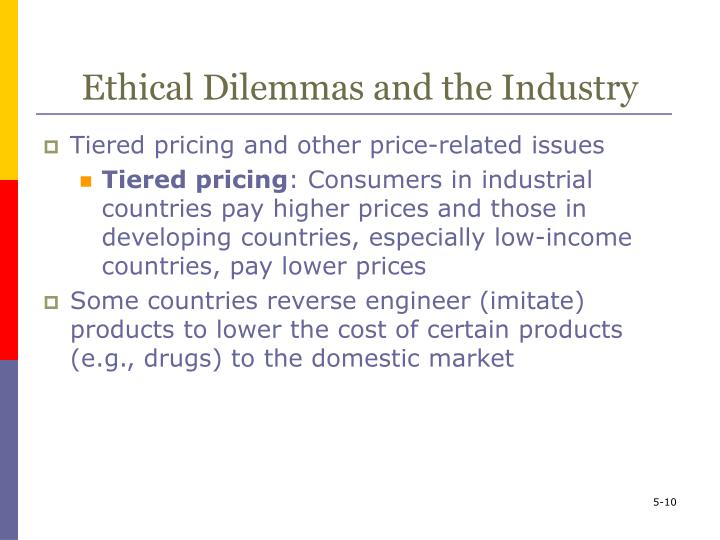 Ethical Dilemmas and the Industry