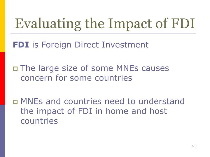 Evaluating the impact of fdi