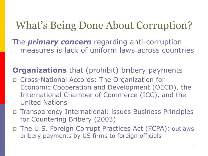 What's Being Done About Corruption?