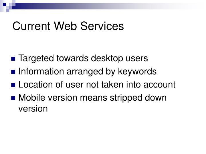 Current Web Services