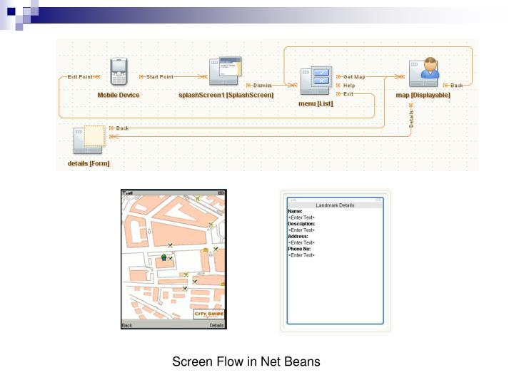 Screen Flow in Net Beans