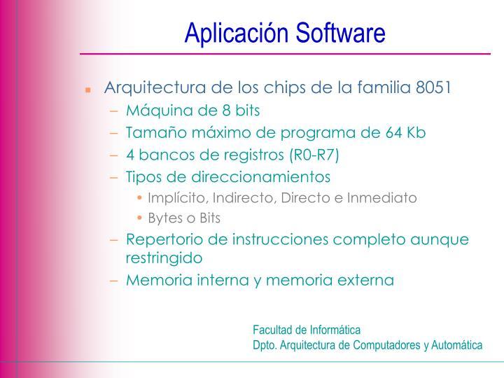 Aplicación Software