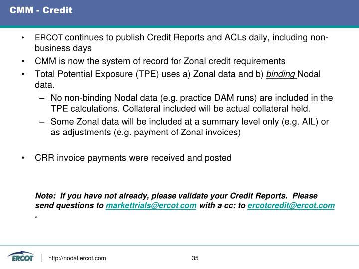 CMM - Credit