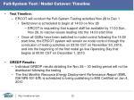 full system test nodal cutover timeline