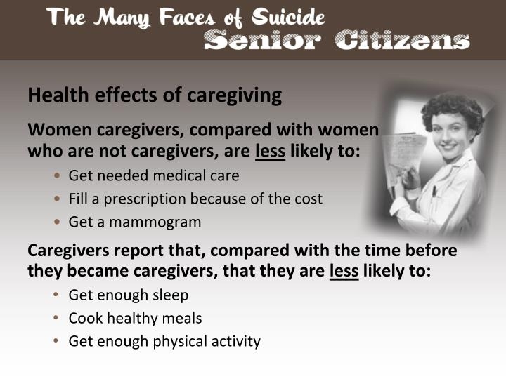 Health effects of caregiving