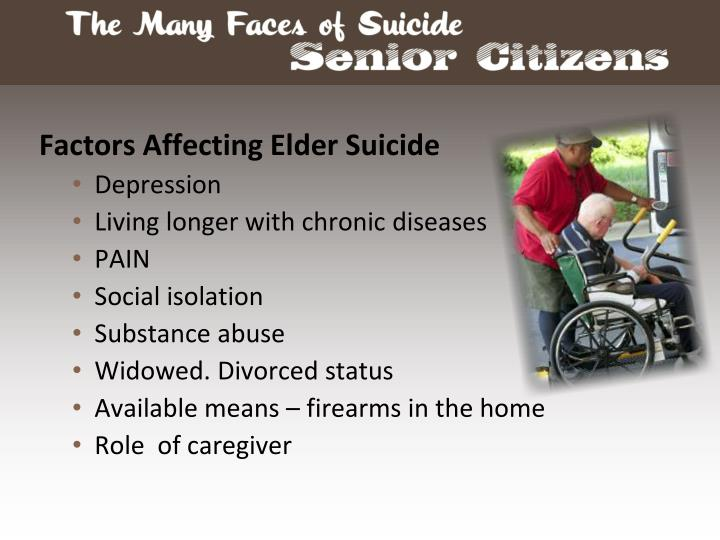 Factors Affecting Elder Suicide