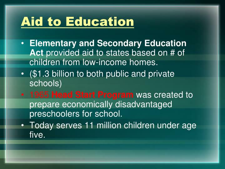 Aid to Education