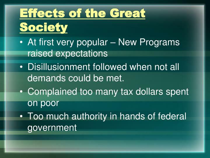 Effects of the Great Society