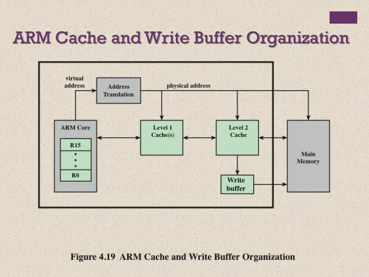 ARM Cache and Write Buffer Organization