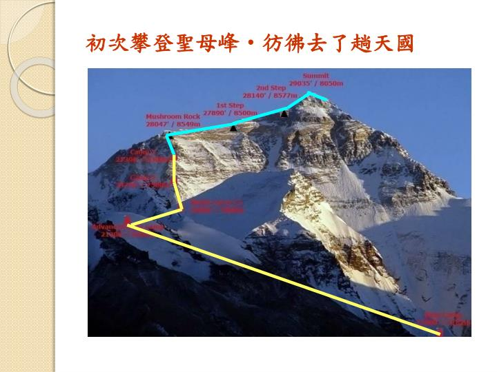 初次攀登聖母峰
