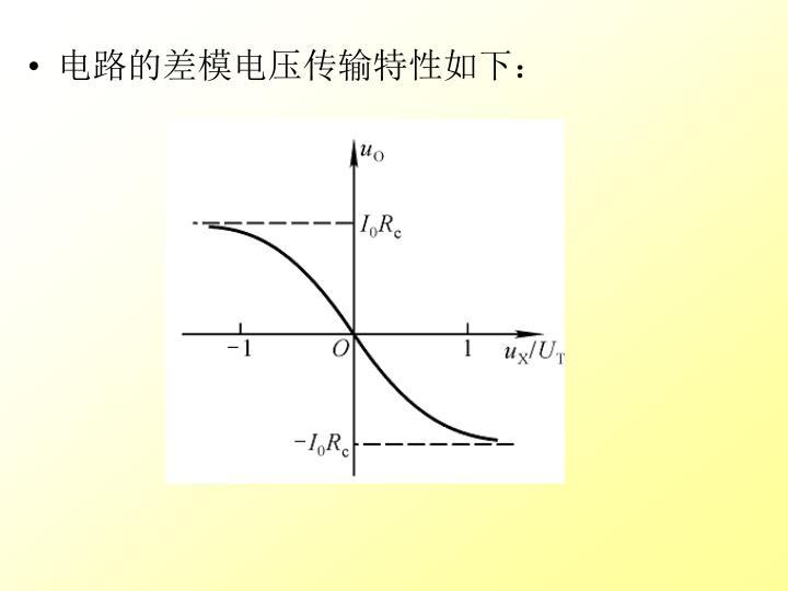 电路的差模电压传输特性如下: