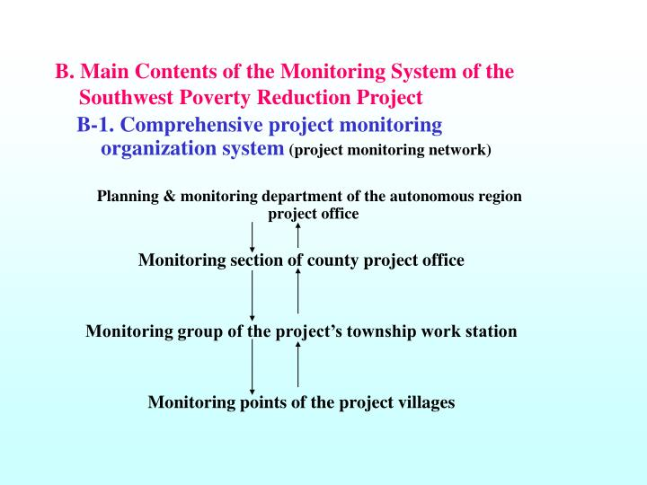 B-1. Comprehensive project monitoring organization system