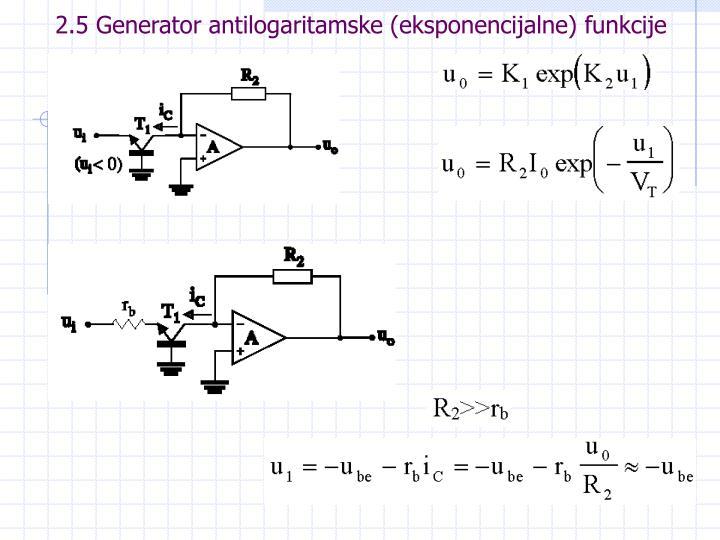 2.5 Generator antilogaritamske (eksponencijalne) funkcije