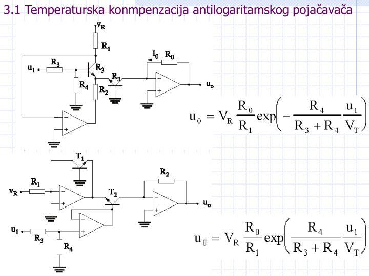 3.1 Temperaturska konmpenzacija antilogaritamskog pojačavača