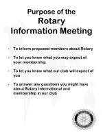 purpose of the rotary information meeting