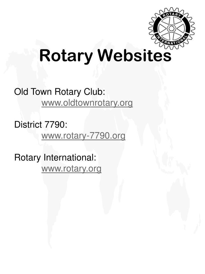 Rotary Websites
