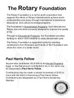 the rotary foundation1