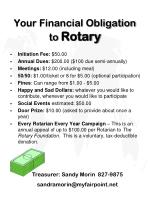 your financial obligation to rotary
