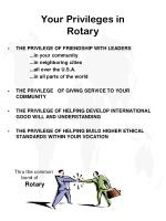 your privileges in rotary
