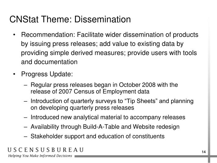 CNStat Theme: Dissemination