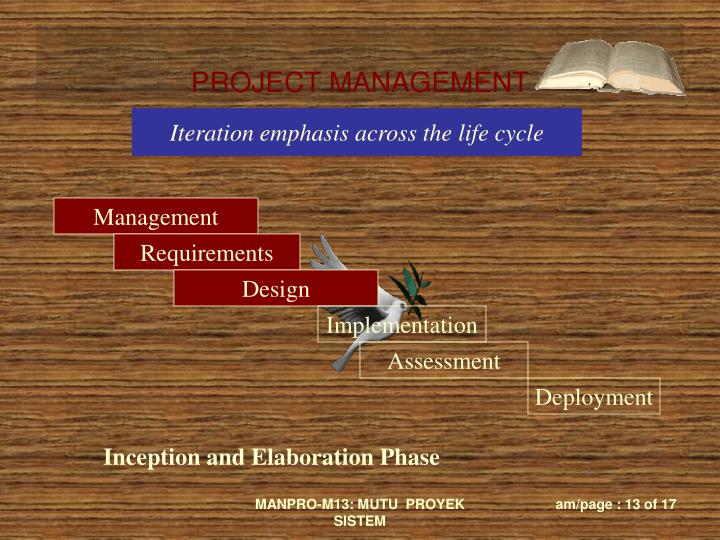 Iteration emphasis across the life cycle