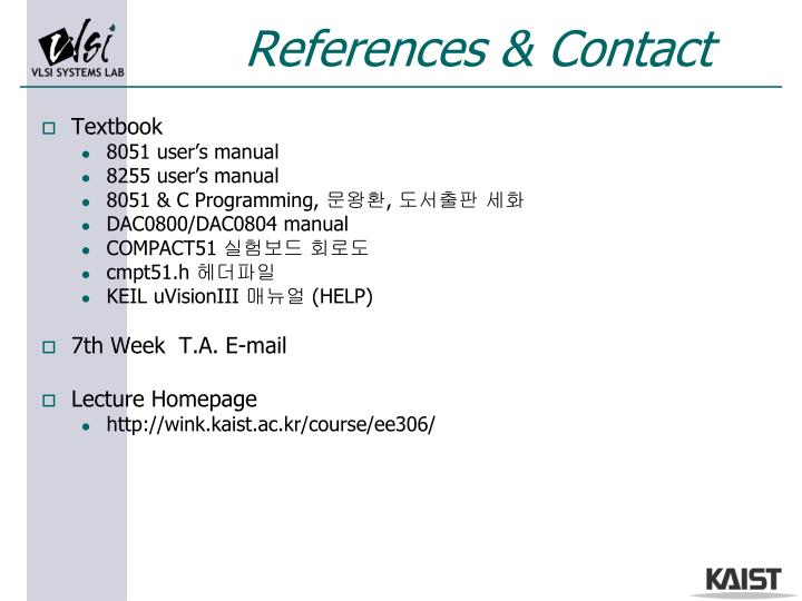 References & Contact