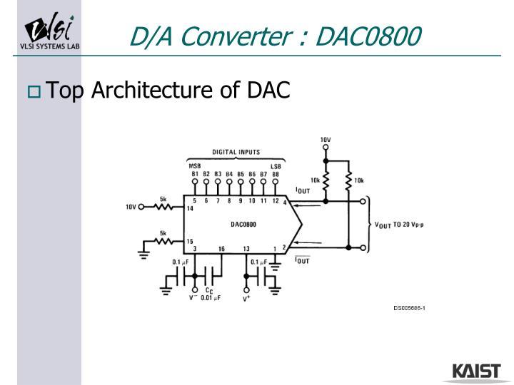 D/A Converter : DAC0800