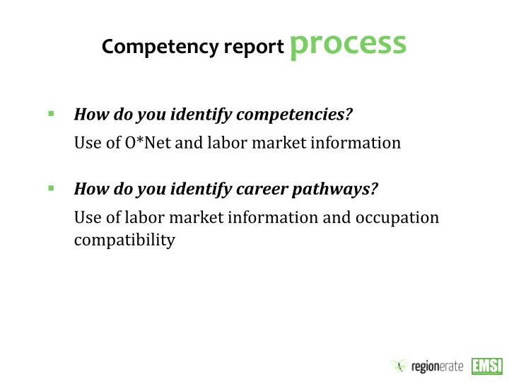 Competency report